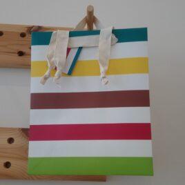Large Stripes Gift Bag
